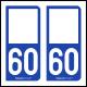Option Choix du N° Département : 60 - (Oise)