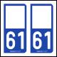 Option Choix du N° Département : 61 - (Orne)