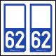 Option Choix du N° Département : 62 - (Pas-de-Calais)