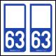 Option Choix du N° Département : 63 - (Puy-de-Dôme)