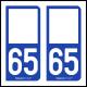 Option Choix du N° Département : 65 - (Hautes-Pyrénées)