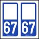 Option Choix du N° Département : 67 - (Bas-Rhin)