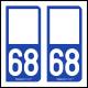 Option Choix du N° Département : 68 - (Haut-Rhin)