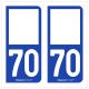 Option Choix du N° Département : 70 - (Haute-Saône)
