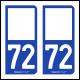 Option Choix du N° Département : 72 - (Sarthe)