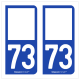 Option Choix du N° Département : 73 - (Savoie)