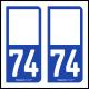 Option Choix du N° Département : 74 - (Haute-Savoie)