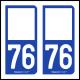 Option Choix du N° Département : 76 - (Seine-Maritime)