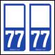 Option Choix du N° Département : 77 - (Seine-et-Marne)