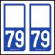 Option Choix du N° Département : 79 - (Deux-Sèvres)