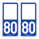 Option Choix du N° Département : 80 - (Somme)