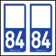 Option Choix du N° Département : 84 - (Vaucluse)