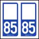 Option Choix du N° Département : 85 - (Vendée)