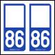 Option Choix du N° Département : 86 - (Vienne)