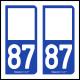 Option Choix du N° Département : 87 - (Haute-Vienne)