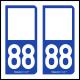 Option Choix du N° Département : 88 - (Vosges)