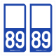 Option Choix du N° Département : 89 - (Yonne)