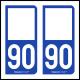 Option Choix du N° Département : 90 - (Territoire-de-Belfort)