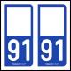 Option Choix du N° Département : 91 - (Essonne)