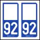 Option Choix du N° Département : 92 - (Hauts-de-Seine)