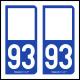 Option Choix du N° Département : 93 - (Seine-Saint-Denis)