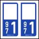Option Choix du N° Département : 971 - (Guadeloupe)
