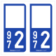 Option Choix du N° Département : 972 - (Martinique)