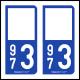 Option Choix du N° Département : 973 - (Guyane)