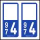 Option Choix du N° Département : 974 - (Réunion)