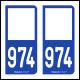 Option Choix du N° Département : 974 - N° Horizontal sur 1 ligne (974-H)