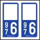 Option Choix du N° Département : 976 - (Mayotte)