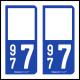 Option Choix du N° Département : 977 - (Saint-Barthélemy)