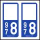 Option Choix du N° Département : 978 - (Saint-Martin)