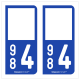 Option Choix du N° Département : 984 - (TAAF)
