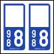 Option Choix du N° Département : 988 - (Nouvelle-Calédonie)