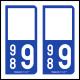 Option Choix du N° Département : 989 - (Île de Clipperton)