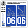 2 Autocollants plaque immatriculation Auto 06 Le Cannet - Ville