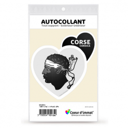 Stickers autocollant Coeur J'aime Corsica - Blason