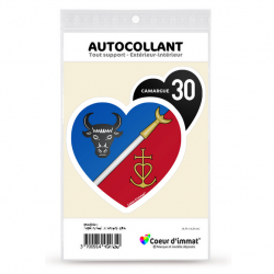 Stickers autocollant Coeur d'immat Camargue 30 - Blason