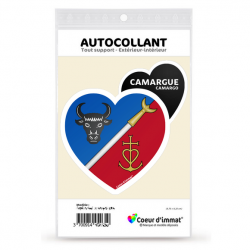 Stickers autocollant Coeur d'immat Camargue - Blason
