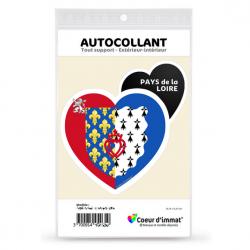 Stickers autocollant Coeur d'immat Pays de la Loire - Blason