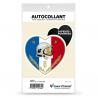 Sticker autocollant Coeur J'aime les Sapeurs-Pompiers - Blason