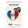 Sticker autocollant Coeur J'aime les Sapeurs-Pompiers Dépt - Blason