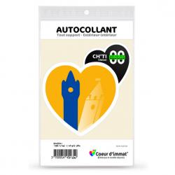 Sticker autocollant Coeur J'aime le Nord-Pas de Calais Dépt - Ch'Ti