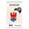 Sticker autocollant Coeur J'aime les Alpes-Maritimes 06 - Blason
