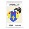 Sticker autocollant Coeur J'aime les Bouches-du-Rhône 13 - Drapées