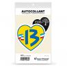 Sticker autocollant Coeur J'aime les Bouches-du-Rhône - Le 13