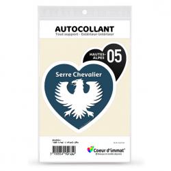 Sticker autocollant Coeur J'aime les Hautes-Alpes - Serre Chevalier