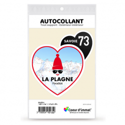 Sticker autocollant Coeur J'aime la Savoie - La Plagne